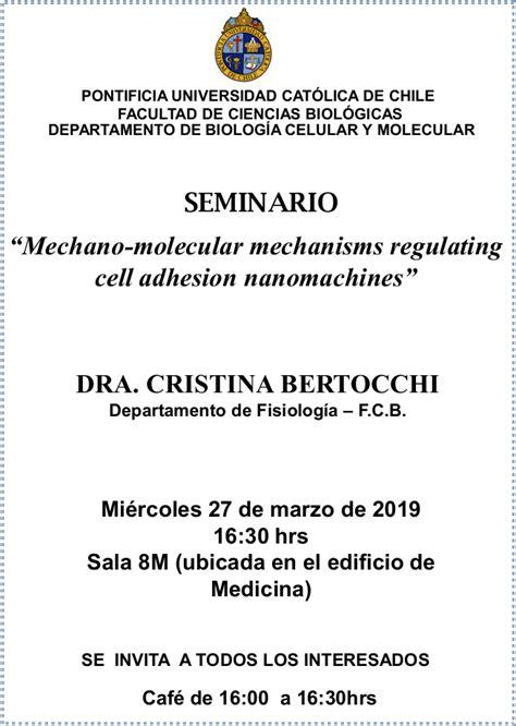 Seminario Departamento Biología Celular y Molecular ...