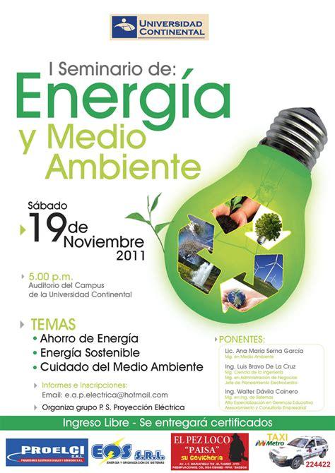 Seminario gratuito de Energía y Medio Ambiente