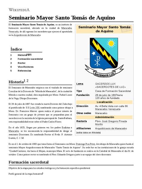 Seminario_Mayor_Santo_Tomás_de_Aquino.pdf | Seminary | Priest
