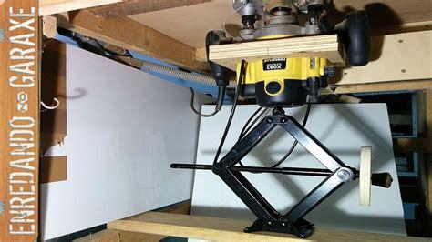 Sencillísimo sistema de elevación para mesa fresadora ...