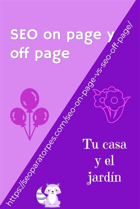 SEO on page y SEO off page. Definiciones, metáforas y ...