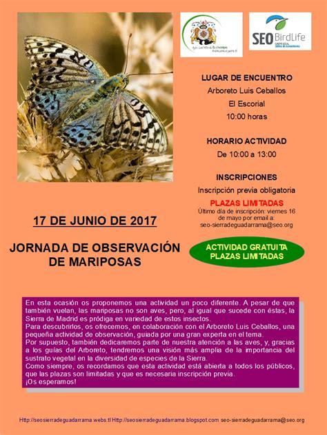 SEO SIERRA DE GUADARRAMA: Observación de mariposas y aves ...