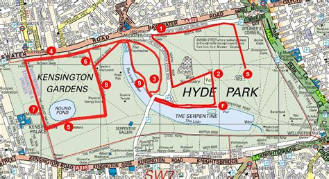Serpentine Running Club   Our races   Course Map