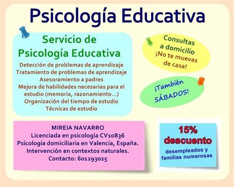 Servicio de psicología educativa // Sígueme en Facebook ...