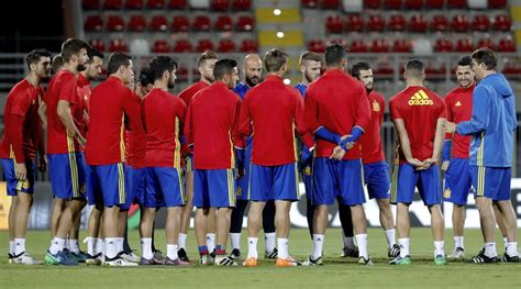 Sesión de entrenamiento de Selección Española