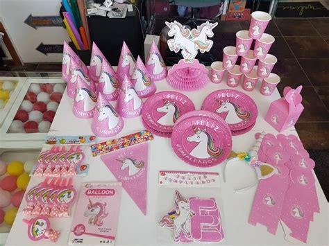 Set Cumpleaños Unicornio 15 Niños Cotillon Envio Gratis ...