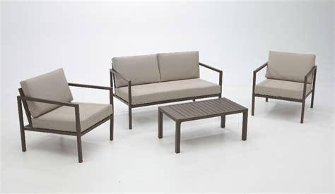 Set de Sofás de jardín aluminio