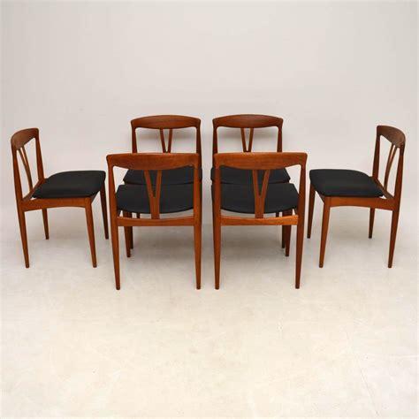 Set Of 6 Danish Teak Retro Dining Chairs Vintage 1960's ...