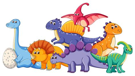 Set of different dinosaur character   Download Free ...