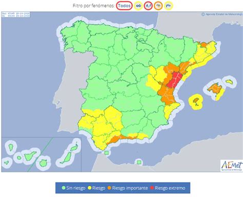 Severe weather alerts for Spain UPGRADED with MORE ...
