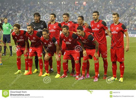 Sevilla FC lineup editorial stock photo. Image of players ...