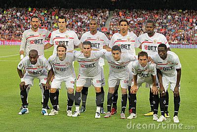Sevilla FC Team Editorial Stock Photo   Image: 15702788