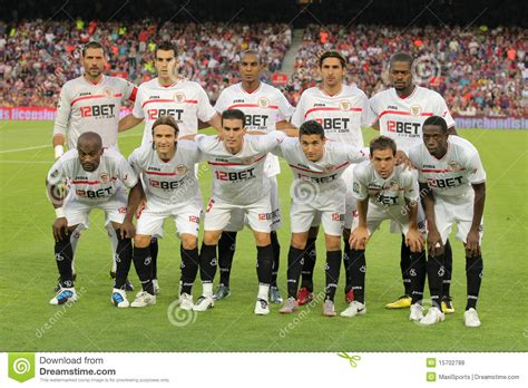 Sevilla FC Team editorial stock photo. Image of ...