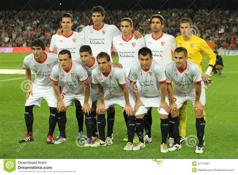 Sevilla FC Team Posing Editorial Photography   Image: 21774497