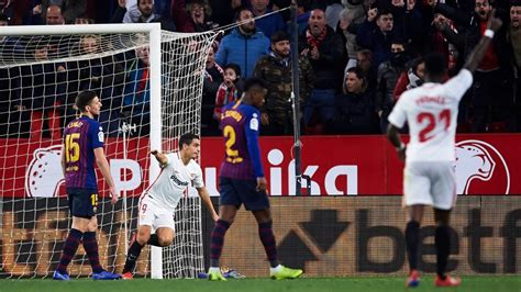 Sevilla FC vs. Barcelona   Football Match Report   January ...