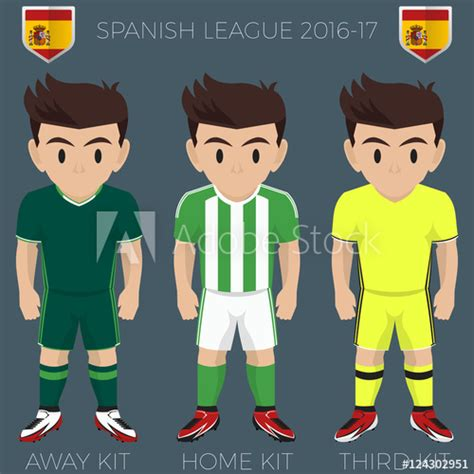 Seville Soccer Club Kits 2016/17 La Liga  Stock image and ...