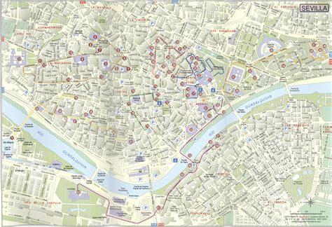 Seville streets map 2004   Full size
