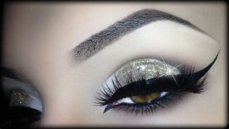 Sexy Arabic Christmas Makeup   Gold Glitter Elegant Cat ...