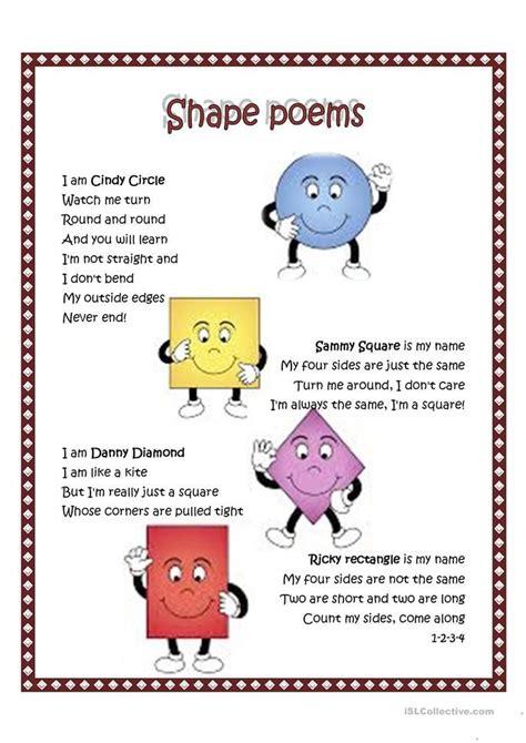 Shape poem worksheet   Free ESL printable worksheets made ...