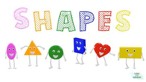 SHAPES for children   learn 3d shapes song for children ...