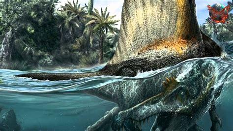 Shark munching Spinosaurus was first known water dinosaur ...