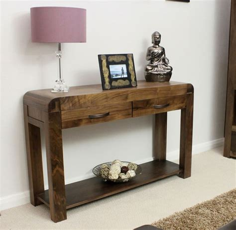 Shiro solid walnut contemporary hallway furniture console ...