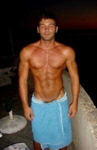 Shirtless Male Muscular Beefcake in Towel V Line Hips Abs ...