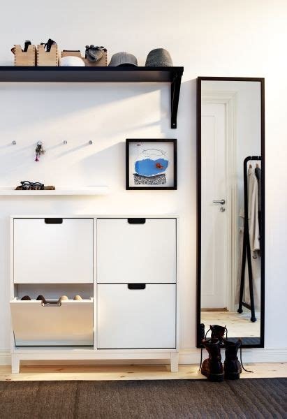 Shoe cabinet with 4 compartments, white, 37 3/4x35 3/8 ...
