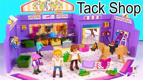 Shopping At Playmobil Horse Tack Shop with Spirit Riding ...