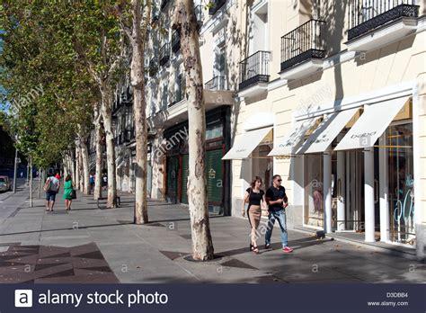 Shopping in Calle de Serrano, Salamanca district, Madrid ...
