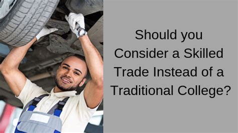 Should you consider a skilled trade instead of a ...