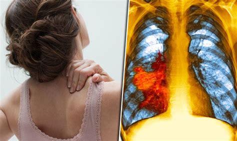 Shoulder pain: Lung cancer symptoms include arm ache ...