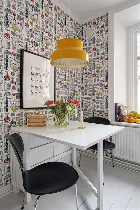 Si, al papel de pared pintado en la cocina   Blog tienda ...