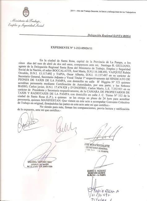 SI.PE.TAX LA PAMPA: Convenio Colectivo de Trabajo, La Pampa