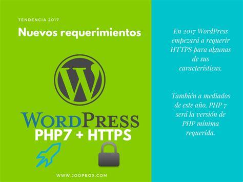 Si tienes WordPress necesitas PHP7 y HTTPS ahora   JOOPbox