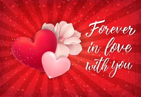 Siempre en letras de amor con corazón rojo | Vector Premium