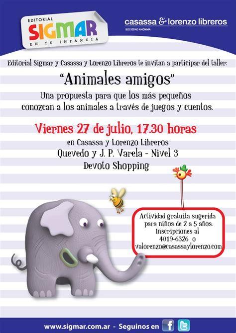 Sigmar presenta el taller gratuito Animales amigos para niños