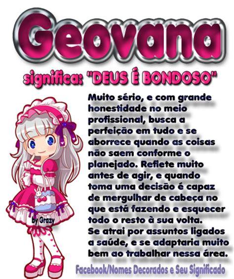 Significado do nome Geovana   Imagens e Fotos para ...