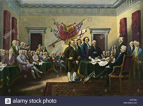 Signing the  American  Declaration of Independence, 28th ...