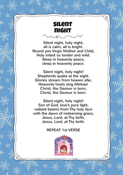 Silent Night | Kids Video Song with FREE Lyrics & Activities!