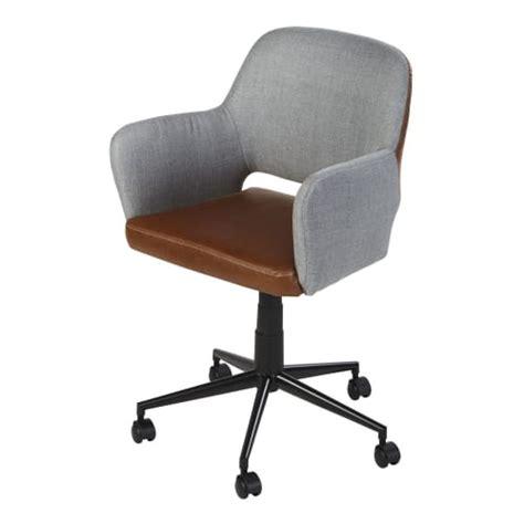 Silla de escritorio ajustable con ruedas bicolor y metal ...