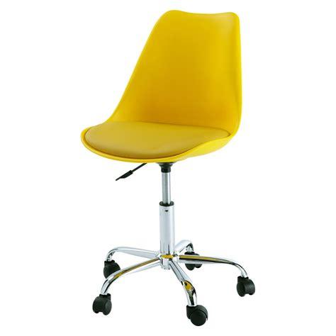 Silla de escritorio con ruedas amarilla Bristol | Maisons ...