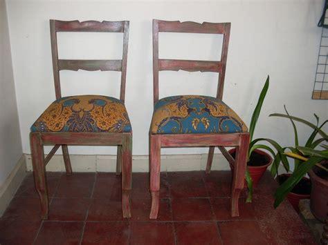 Sillas Vintage Madera Nativa, Recién Restauradas   $ 82 ...