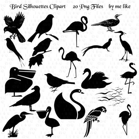 Siluetas de aves Clip Art aves INSTANTÁNEA imágenes ...