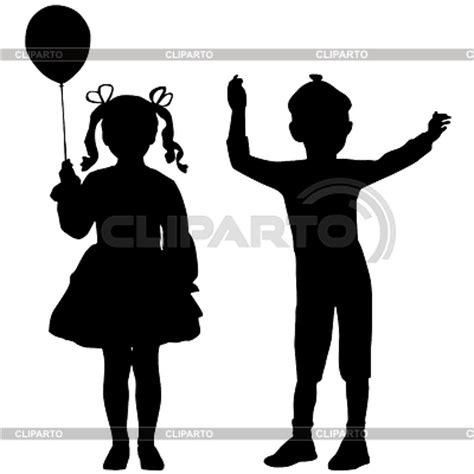 Siluetas de los niños | Serie de imágenes de alta calidad ...