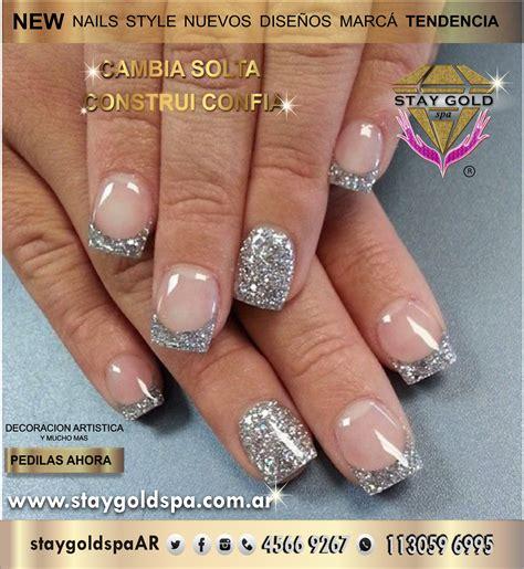 Silver glitter nails Uñas acrilicas cerca de Velez Capital ...