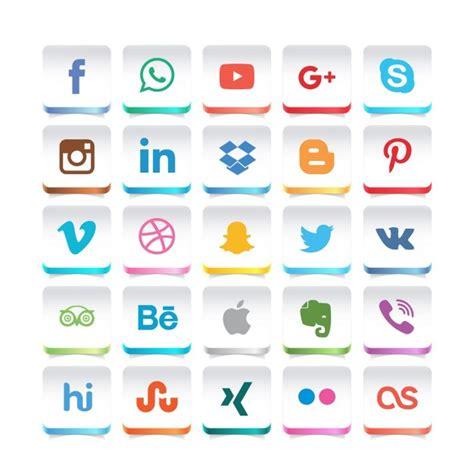 Símbolos de redes sociales   Descargar Vectores gratis