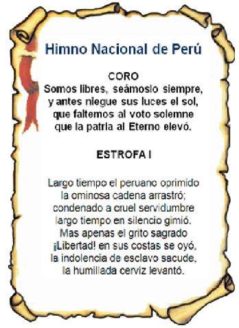 simbolos patrios la bandera del peru el escudo del peru el ...