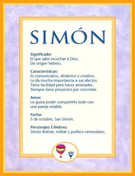Simón, imagen de Simón