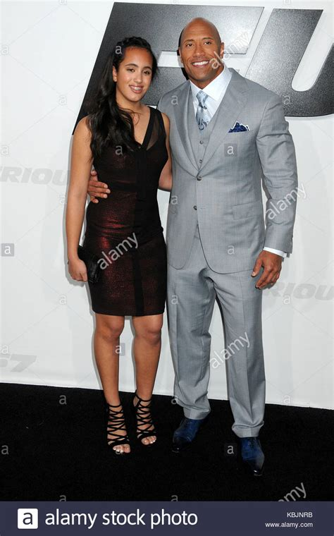 Simone Alexandra Johnson And Dwayne Johnson Stock Photos ...